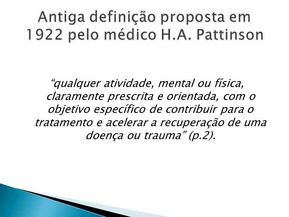 Antiga definição proposta em 1922 pelo médico H.A. Pattinson