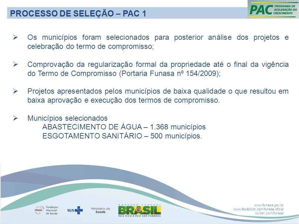 PROCESSO DE SELEÇÃO – PAC 1