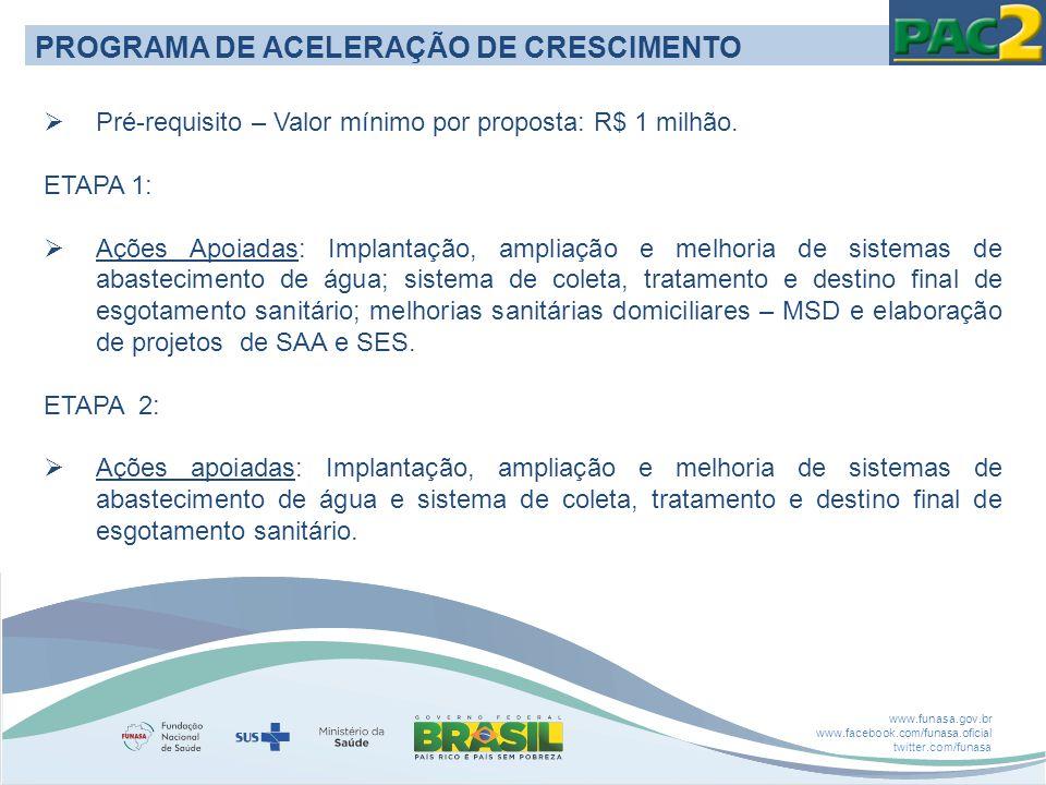 PROGRAMA DE ACELERAÇÃO DE CRESCIMENTO