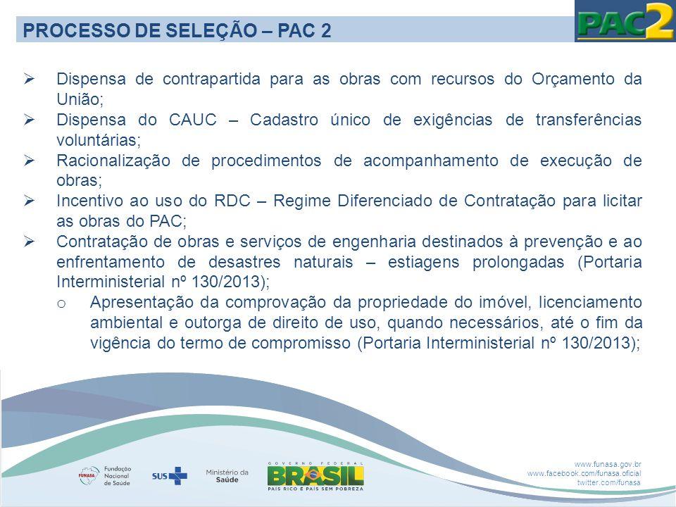 PROCESSO DE SELEÇÃO – PAC 2