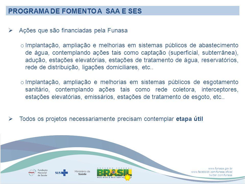 PROGRAMA DE FOMENTO A SAA E SES