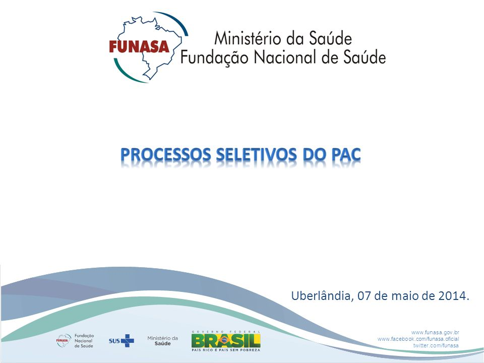 Processos seletivos do pac