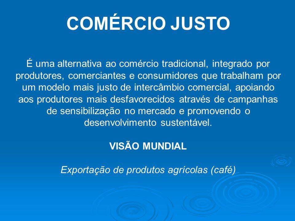 Exportação de produtos agrícolas (café)