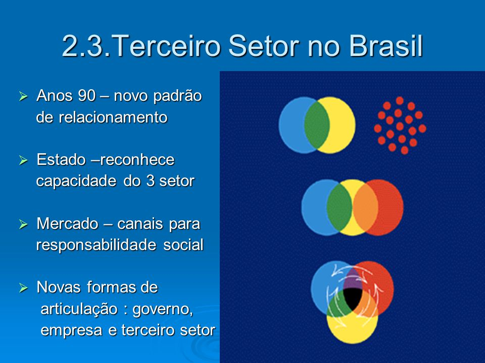 2.3.Terceiro Setor no Brasil