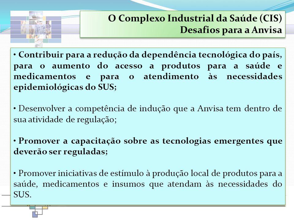 O Complexo Industrial da Saúde (CIS) Desafios para a Anvisa