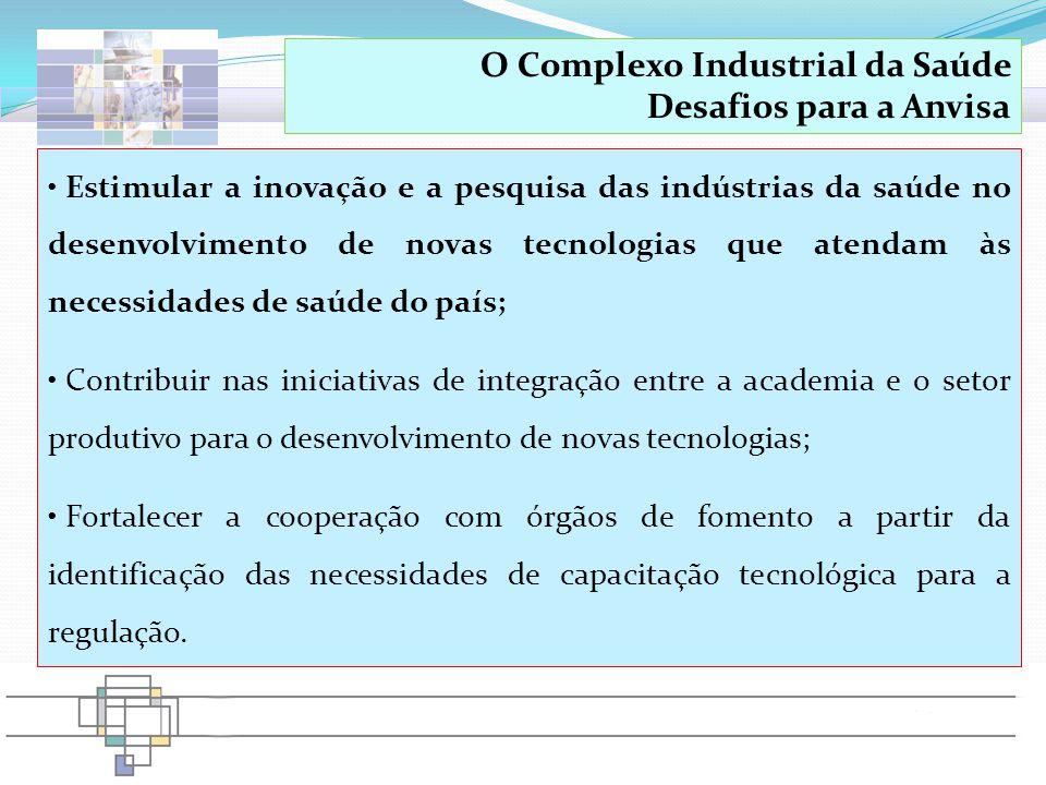 O Complexo Industrial da Saúde Desafios para a Anvisa