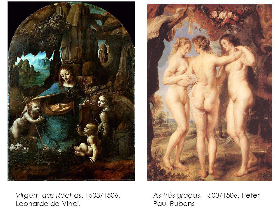 Virgem das Rochas. 1503/1506. Leonardo da Vinci.