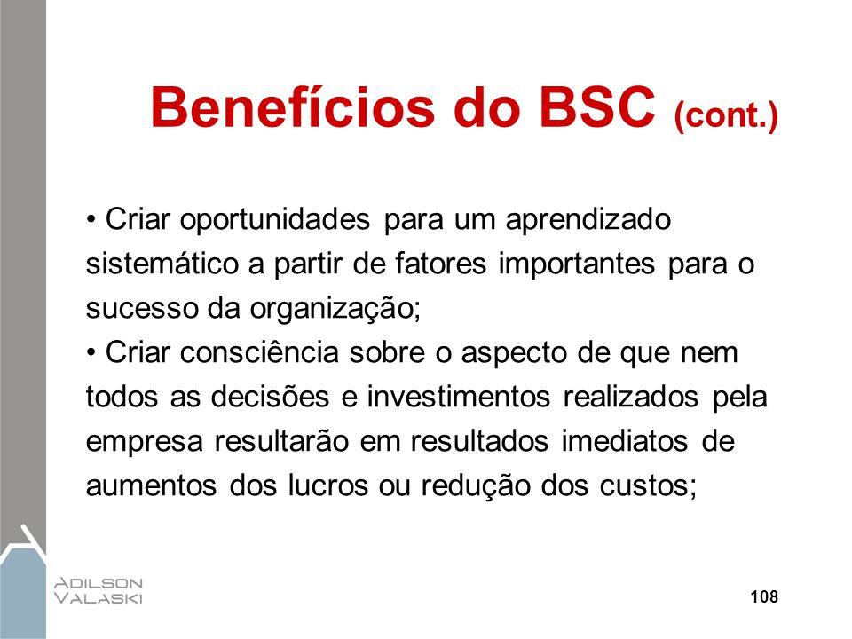 Benefícios do BSC (cont.)