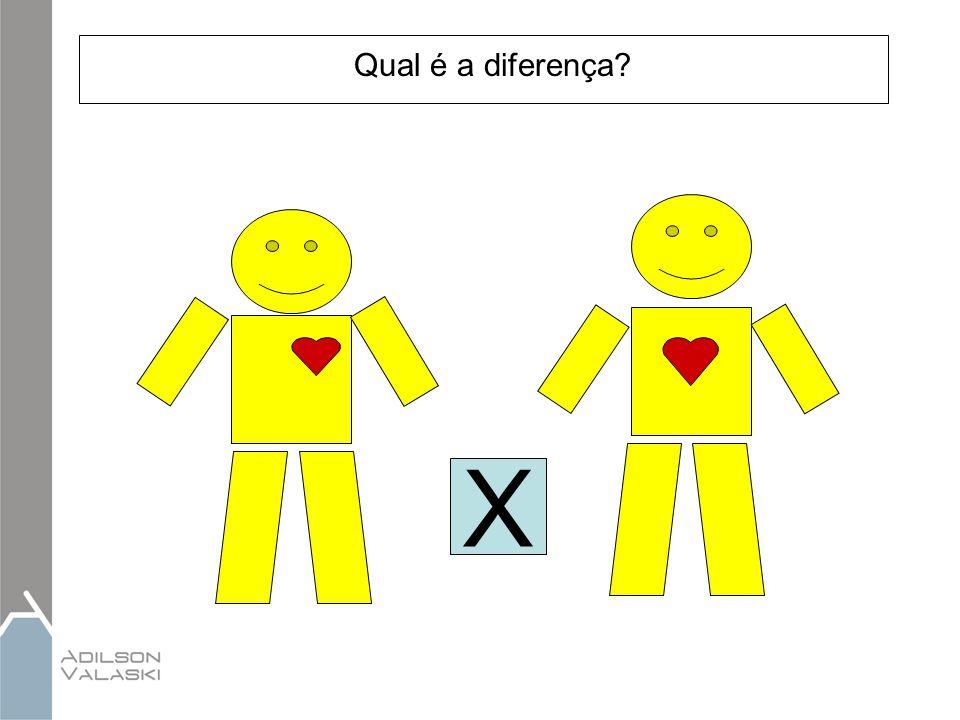 Qual é a diferença X