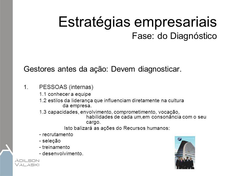 Estratégias empresariais Fase: do Diagnóstico