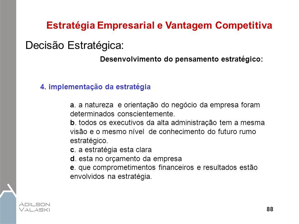 Estratégia Empresarial e Vantagem Competitiva