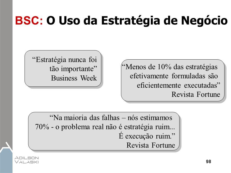 BSC: O Uso da Estratégia de Negócio