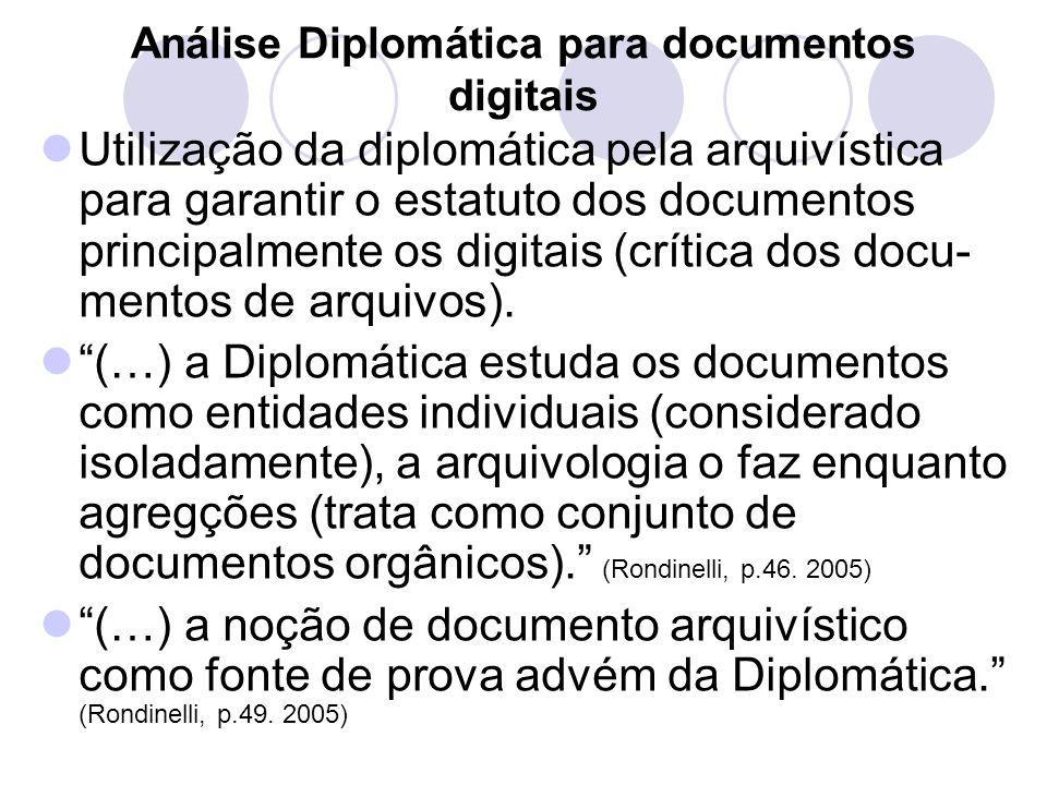 Análise Diplomática para documentos digitais