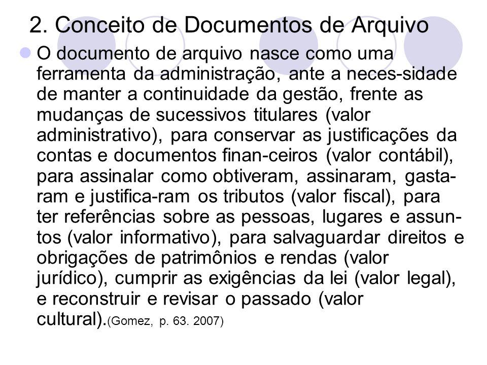 2. Conceito de Documentos de Arquivo