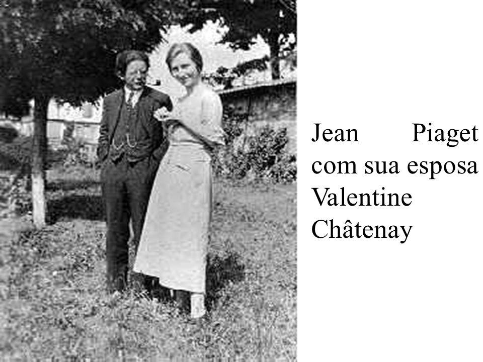 Jean Piaget com sua esposa