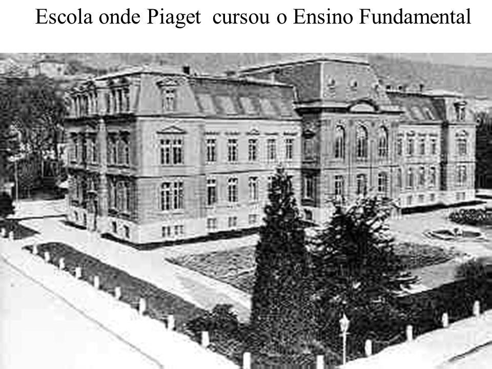 Escola onde Piaget cursou o Ensino Fundamental