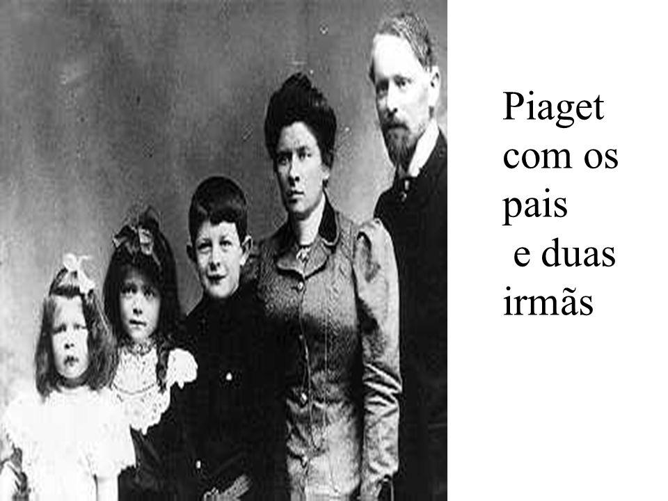Piaget com os pais e duas irmãs