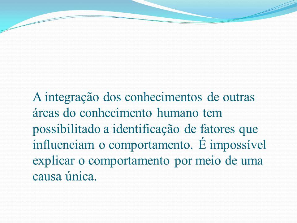 A integração dos conhecimentos de outras áreas do conhecimento humano tem possibilitado a identificação de fatores que influenciam o comportamento.