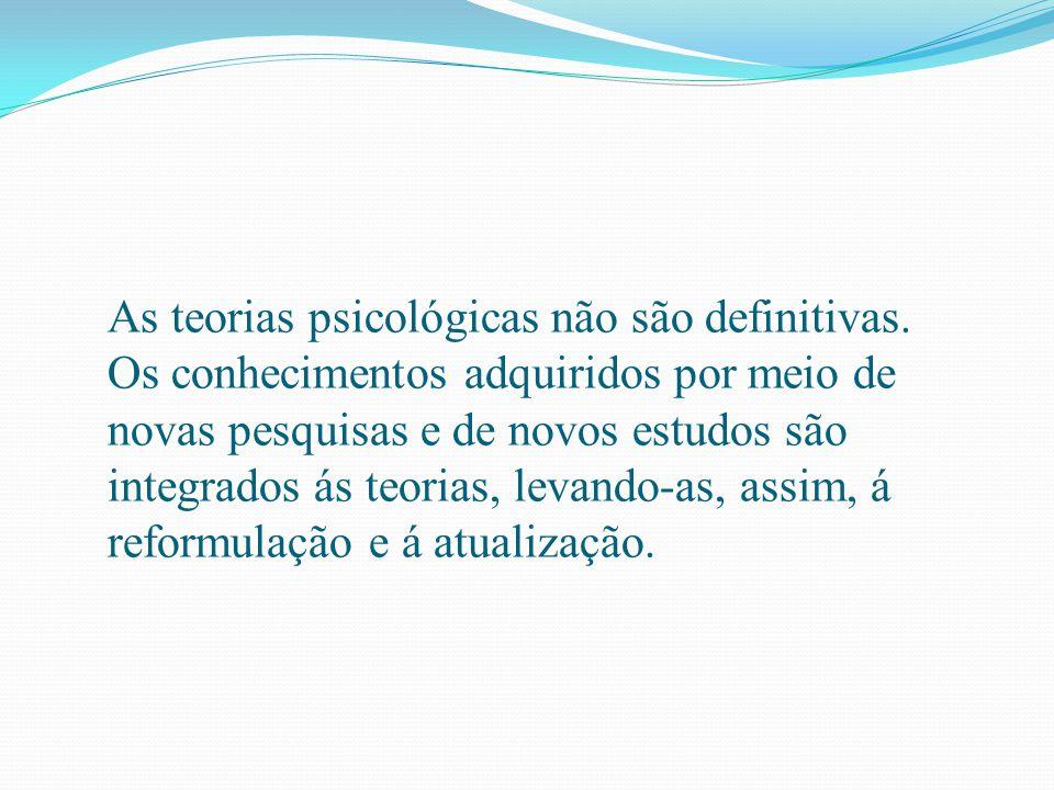 As teorias psicológicas não são definitivas