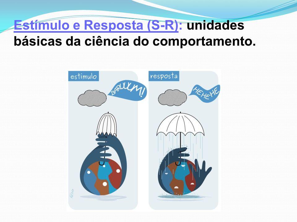 Estímulo e Resposta (S-R): unidades básicas da ciência do comportamento.