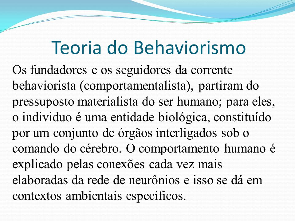 Teoria do Behaviorismo