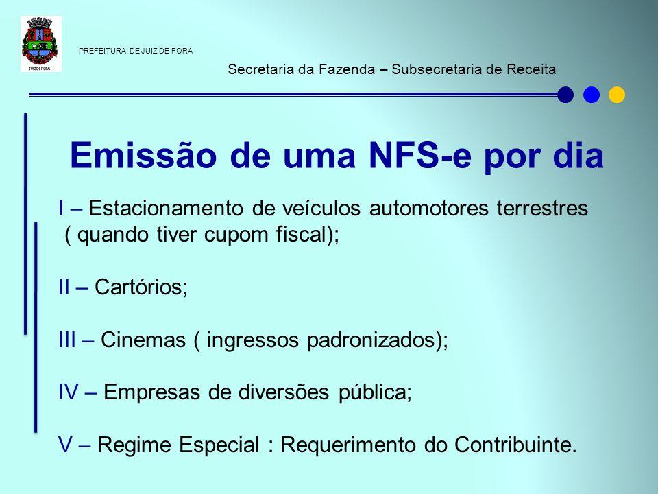 Emissão de uma NFS-e por dia