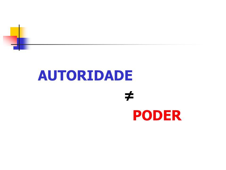 AUTORIDADE ≠ PODER