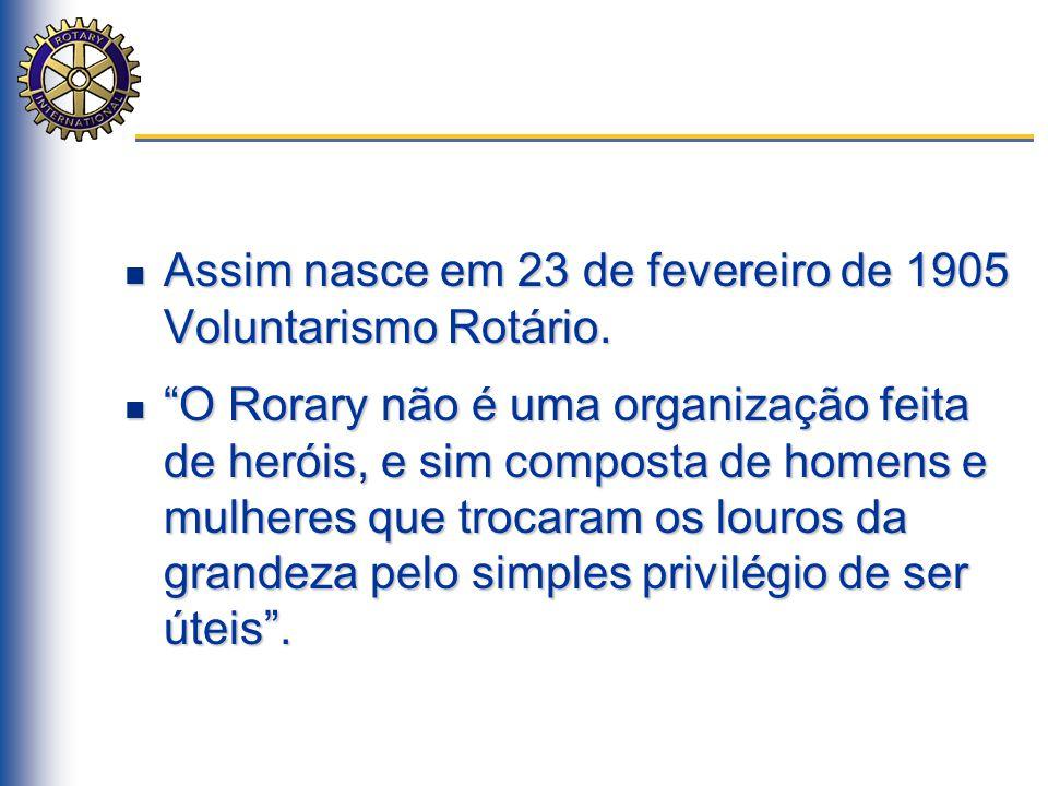Assim nasce em 23 de fevereiro de 1905 Voluntarismo Rotário.