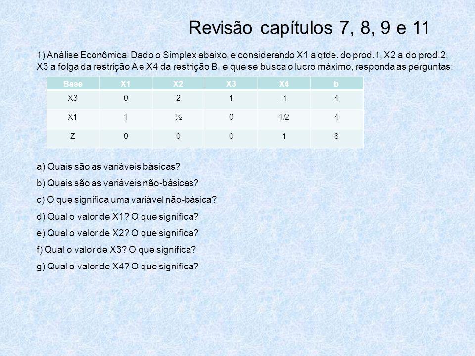 Revisão capítulos 7, 8, 9 e 11