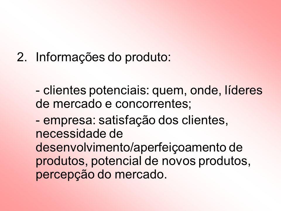 Informações do produto: