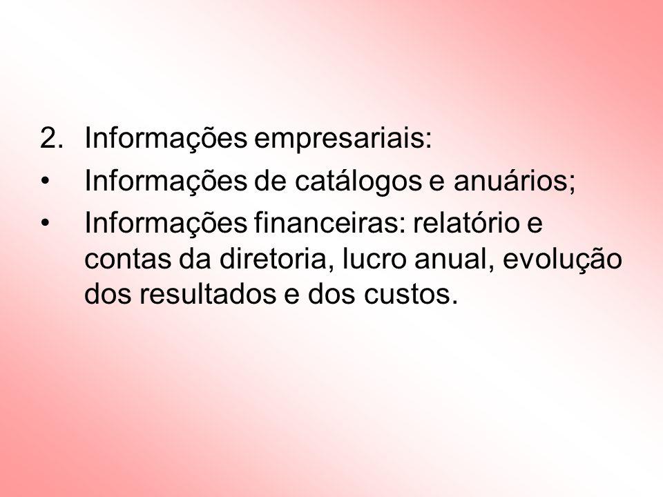 Informações empresariais: