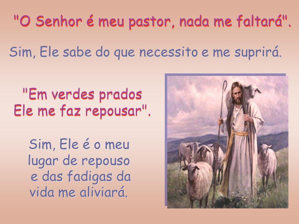 O Senhor é meu pastor, nada me faltará .