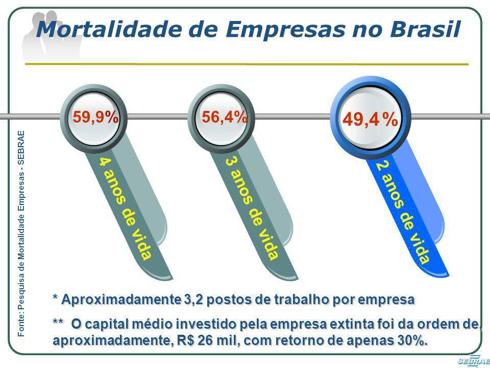 Mortalidade de Empresas no Brasil
