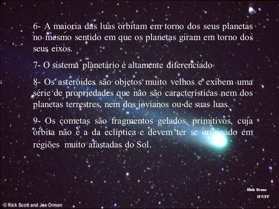 7- O sistema planetário é altamente diferenciado