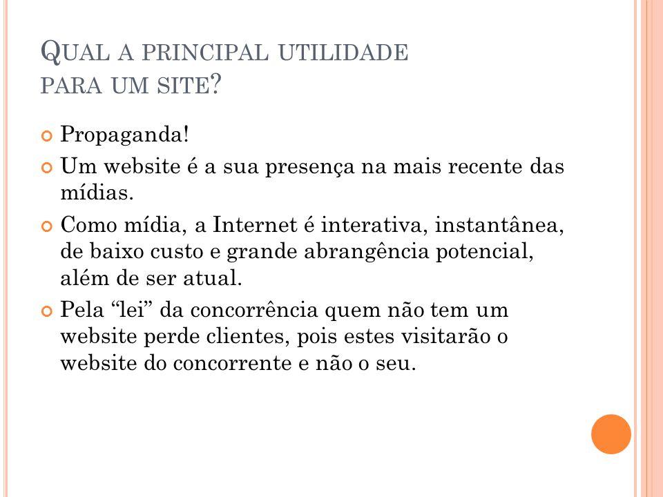Qual a principal utilidade para um site