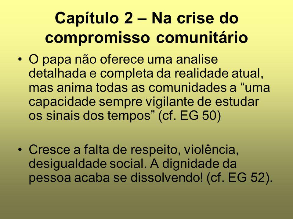 Capítulo 2 – Na crise do compromisso comunitário