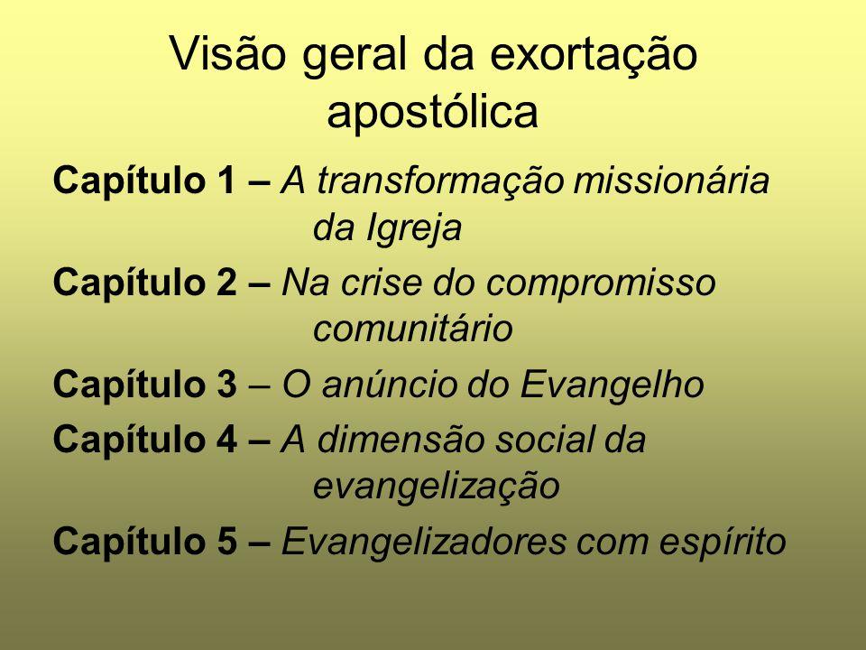 Visão geral da exortação apostólica