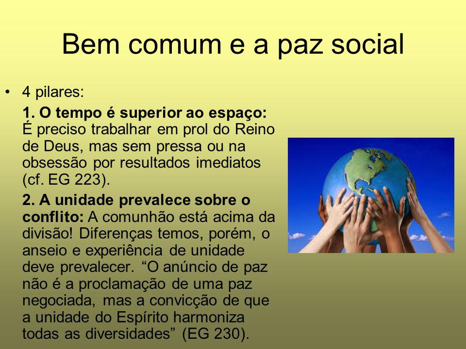 Bem comum e a paz social 4 pilares: