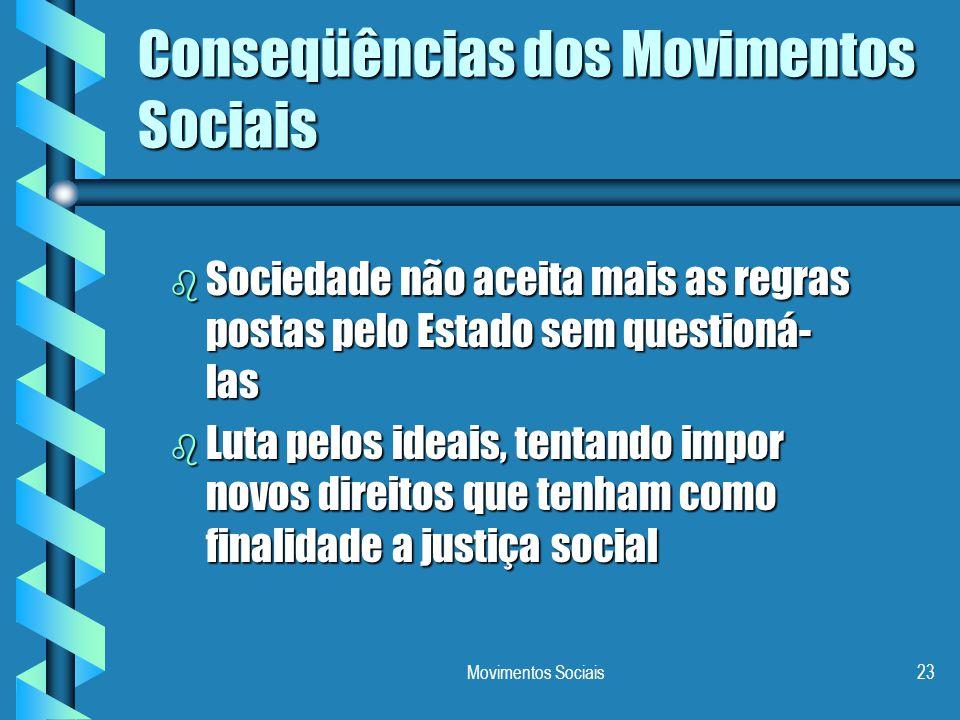 Conseqüências dos Movimentos Sociais