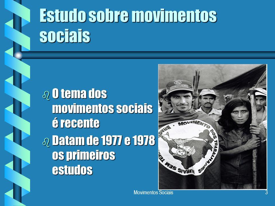 Estudo sobre movimentos sociais