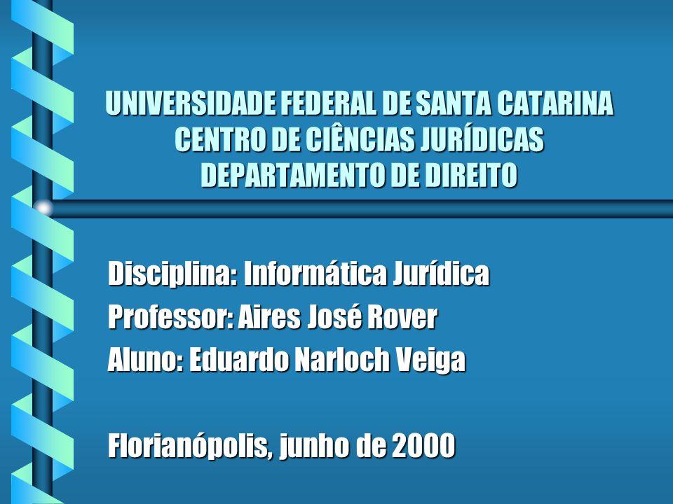 UNIVERSIDADE FEDERAL DE SANTA CATARINA CENTRO DE CIÊNCIAS JURÍDICAS DEPARTAMENTO DE DIREITO