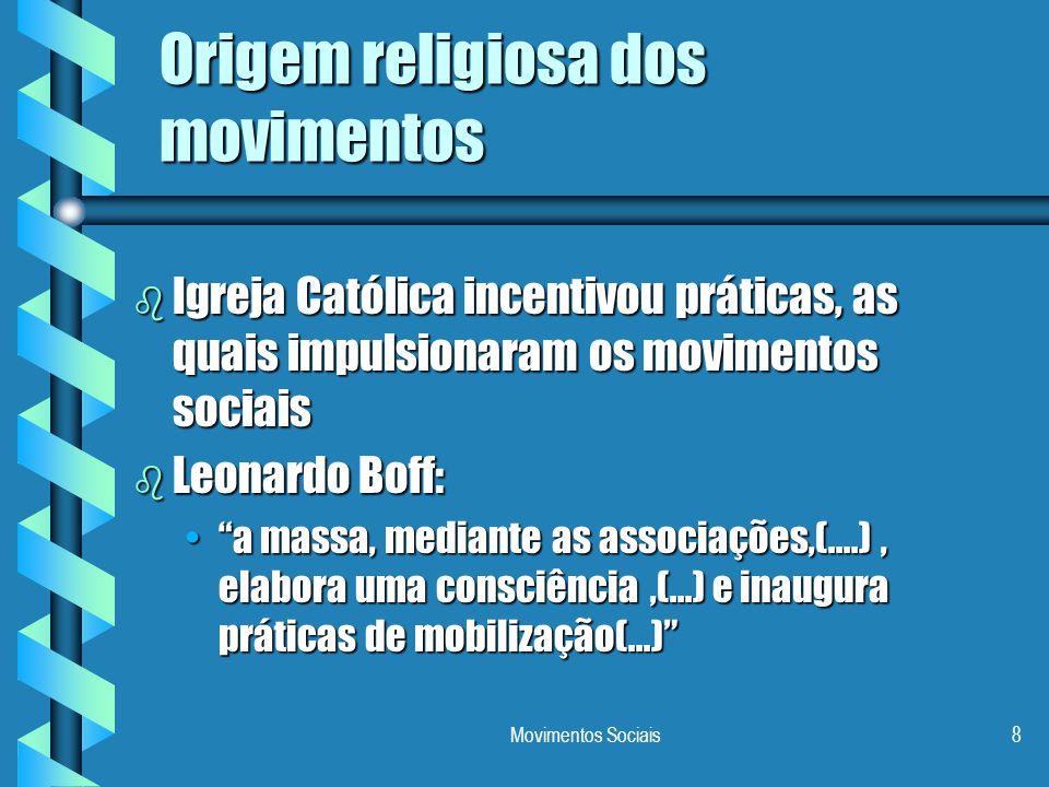 Origem religiosa dos movimentos