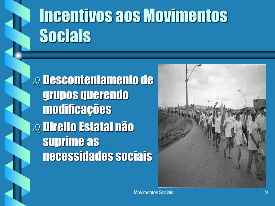 Incentivos aos Movimentos Sociais
