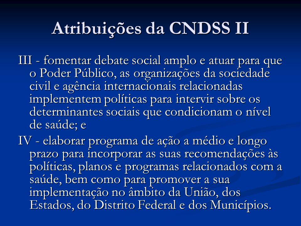 Atribuições da CNDSS II
