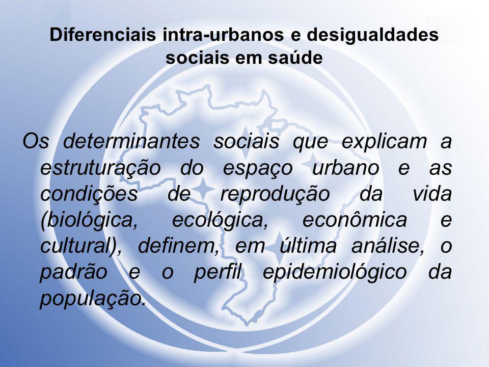Diferenciais intra-urbanos e desigualdades sociais em saúde