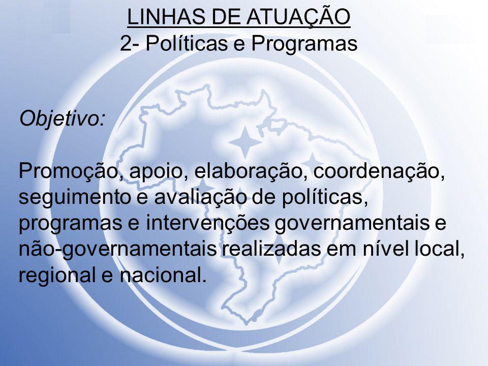 LINHAS DE ATUAÇÃO 2- Políticas e Programas