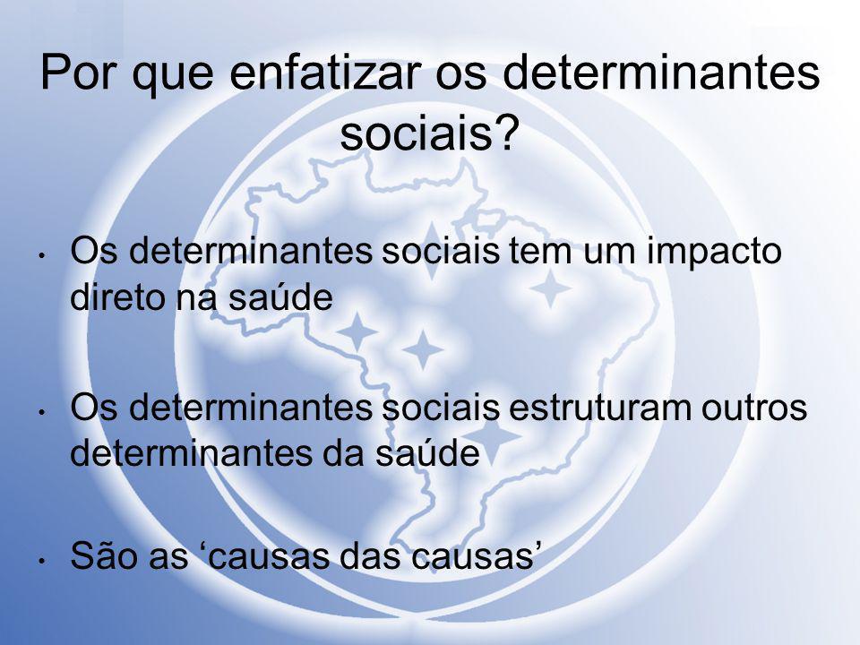 Por que enfatizar os determinantes sociais