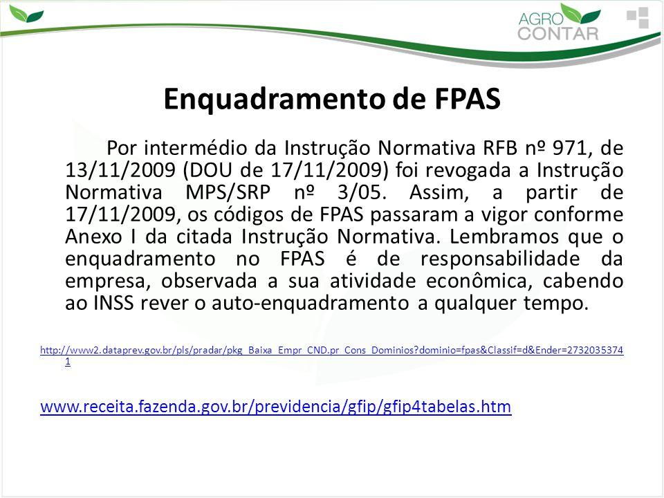 Enquadramento de FPAS