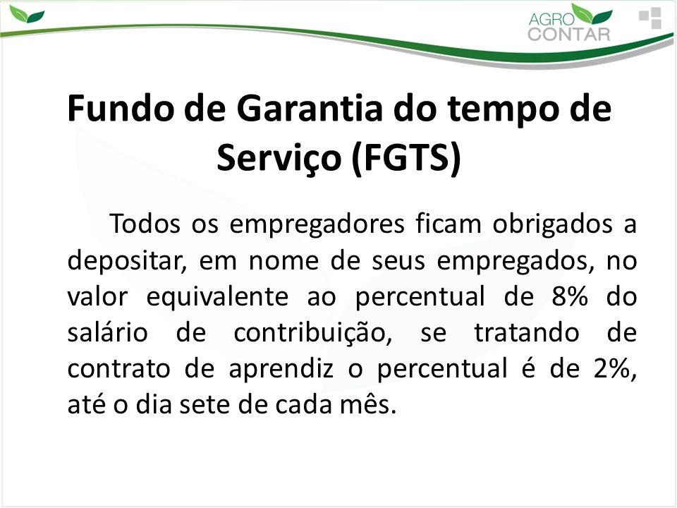 Fundo de Garantia do tempo de Serviço (FGTS)