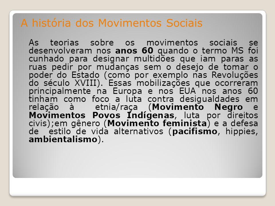 A história dos Movimentos Sociais